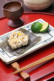 Grilled cod milt,  japanese cuisine Royalty Free Stock Photos