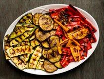 Grilled coloriu o prato do vegetal do verão Imagens de Stock