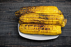 Grilled Corn on the Cob Stock Photos