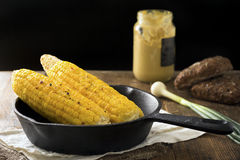 Grilled corn on the cob Royalty Free Stock Image