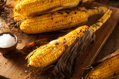 Grilled Corn on the Cob Royalty Free Stock Photos