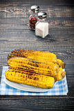 Grilled Corn on the Cob with Salt Stock Image