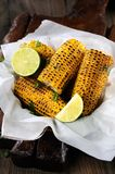 Grilled corn cobs Stock Photos
