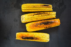Grilled corn with Stock Image