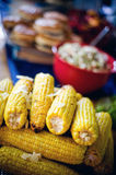 Grilled Corn. Plate of grilled corn on a summer table Stock Image