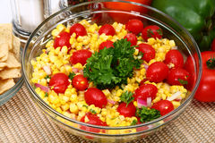 Grilled Corn Salad stock images