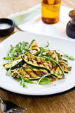 Grilled courgette salad Stock Photography