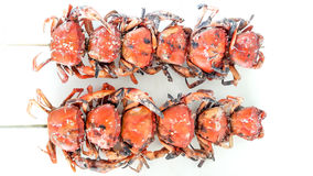 Grilled crab skewers Royalty Free Stock Photos