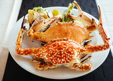 Grilled crab Royalty Free Stock Photo
