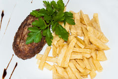 Grilled cutlet Royalty Free Stock Images