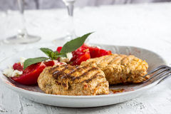 Grilled cutlets burgers Royalty Free Stock Photography