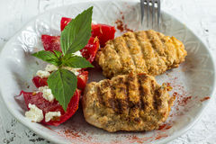 Grilled cutlets burgers Royalty Free Stock Images