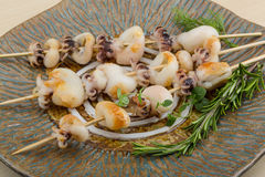 Grilled cuttlefish Stock Photos