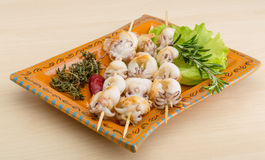 Grilled cuttlefish Royalty Free Stock Images