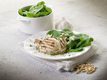Grilled cuttlefish with fresh Stock Images