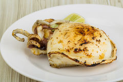 Grilled cuttlefish Stock Photography
