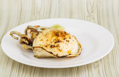 Grilled cuttlefish Stock Image