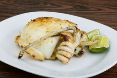 Grilled cuttlefish Stock Photo