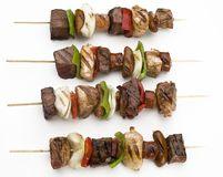 Grilled delicious kebabs Stock Images