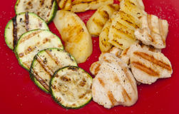 Grilled dinner Royalty Free Stock Image