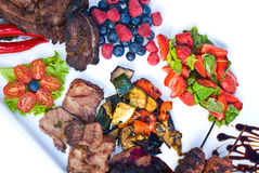 Grilled dish Royalty Free Stock Photography