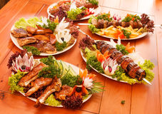 Grilled dishes Stock Photography