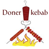 Grilled and doner kebab Stock Photography