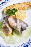 Grilled dorado fish Royalty Free Stock Photos