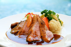 Grilled duck breast Royalty Free Stock Photo