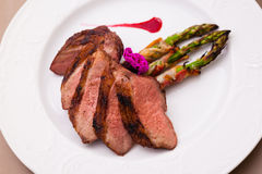 Grilled duck breast Stock Photos
