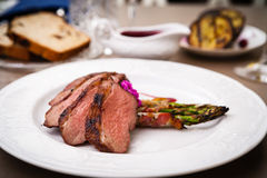 Grilled duck breast Stock Images