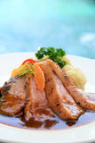 Grilled Duck Breast Orange Relish Stock Images