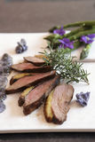 Grilled duck breast with rosemary Royalty Free Stock Image