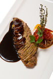 Grilled duck fillet with vegetable stew Stock Photo