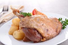 Grilled duck and vegetables Stock Photography