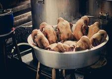 Grilled ducks Stock Photos