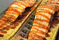 Grilled Eel Sushi Stock Photos