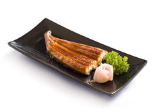 Grilled eels unagi on white Royalty Free Stock Photos