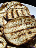 Grilled eggplant. Close-up of a dish of grilled slices of eggplant Royalty Free Stock Image