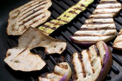 Grilled eggplant. Close-up of a dish of grilled slices of eggplant Royalty Free Stock Photo