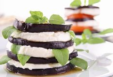 Grilled eggplant Stock Photos