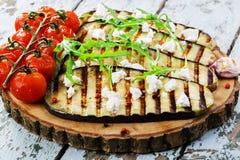 Grilled eggplant Stock Photo