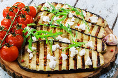 Grilled eggplant Stock Photography