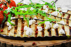 Grilled eggplant Royalty Free Stock Images