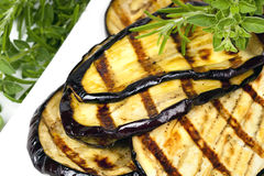 Grilled Eggplant Slices Stock Photography