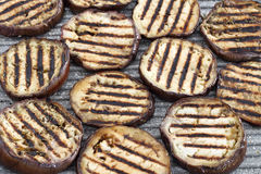 Grilled eggplant in slices Stock Photography
