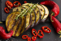 Grilled eggplant slices Royalty Free Stock Photo