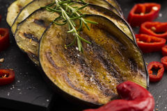 Grilled eggplant slices Royalty Free Stock Photos