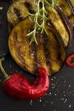 Grilled eggplant slices Stock Photo