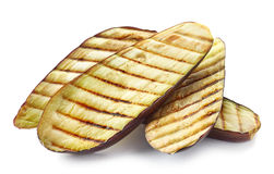 Grilled eggplant slices Stock Image